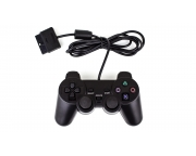 Wired Dual Shock Joypad Controller For PS2 Playstation 2 Black