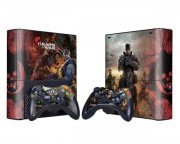 XBOX 360 Slim E Gears of War 3 Vinyl Skin [Pacers Skin, BOX1330-105]