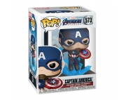 POP Movies Avengers Endgame - Captain Amecia with Broken Shield and Mjolnir (MULTI)