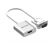 Vention Full HD VGA to HDMI átalakító adapter hangbemenettel