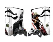 XBOX 360 Slim Metal Gear Solid 4 Vinyl Skin [Pacers Skin, BOX1015-25]