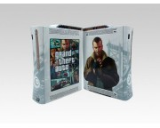XBOX 360 Fat Grand Theft Auto 4 Crystal Skin [Pacers Skin, BOX0832-11]